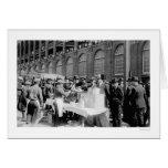 Béisbol 1920 del soporte del perrito caliente del  tarjeta