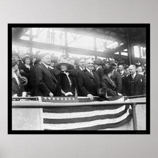 Béisbol 1922 de las esposas de Harding Hoover Impresiones