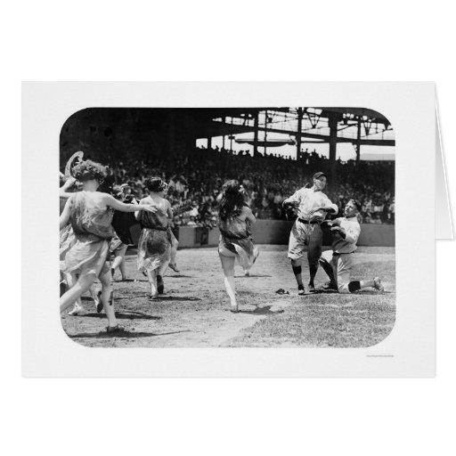 Béisbol 1924 de las mujeres del baile felicitaciones