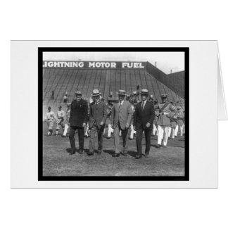 Béisbol 1925 del desfile de Kenesaw Landis Tarjeta