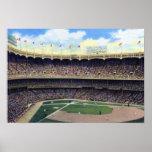 Béisbol 1930 del vintage de New York City Poster