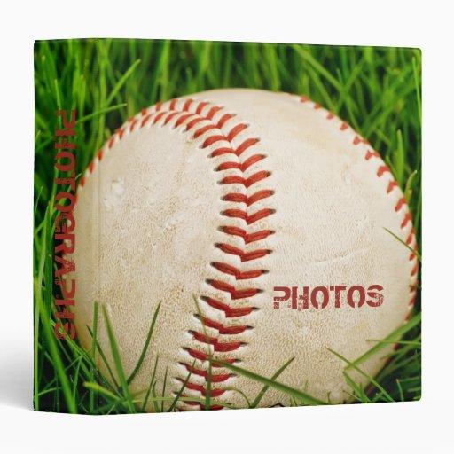 """Béisbol 1,5"""" álbum de foto carpeta 1 1/2"""""""