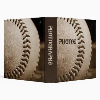 """Béisbol 1,5"""" de la sepia álbum de foto"""