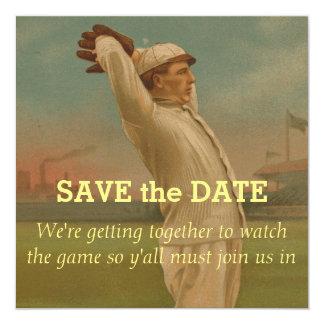 """Béisbol 1 del vintage invitación 5.25"""" x 5.25"""""""