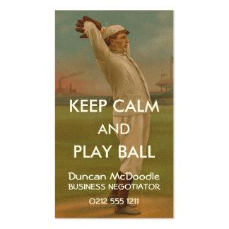 Béisbol 1 del vintage tarjetas de visita