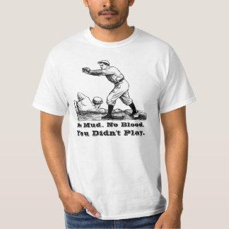 Béisbol 2 del vintage playera