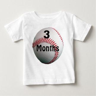 Béisbol 3 meses de camisa del bebé para las