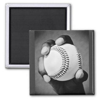 béisbol a disposición imán cuadrado
