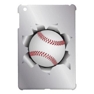 béisbol a través de la hoja de metal iPad mini cobertura