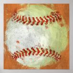 Béisbol abstracto impresiones