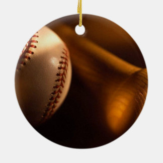 béisbol adorno navideño redondo de cerámica