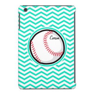 Béisbol; Aguamarina Chevron verde Fundas De iPad Mini Retina