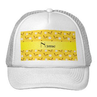 Béisbol amarillo conocido personalizado gorras de camionero