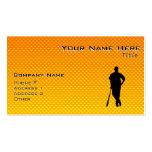 Béisbol amarillo-naranja tarjeta personal