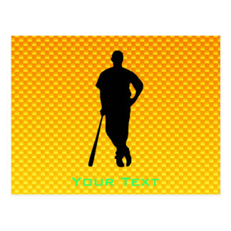 Béisbol amarillo-naranja tarjeta postal