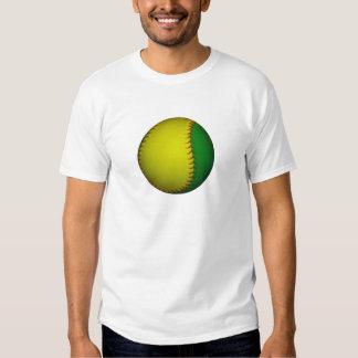Béisbol amarillo y verde camisas