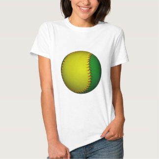 Béisbol amarillo y verde poleras