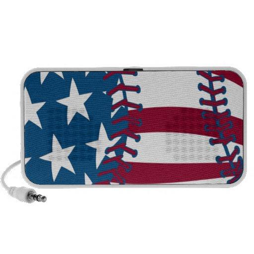 béisbol americano de la bandera de los E.E.U.U. Mp3 Altavoz
