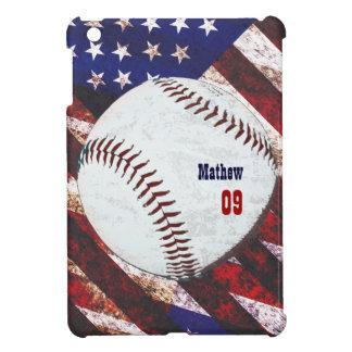 Béisbol americano - estilo del vintage iPad mini funda