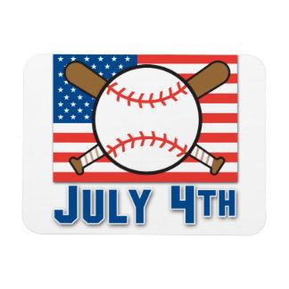 Béisbol americano iman de vinilo