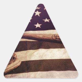 Béisbol americano pegatina triangular