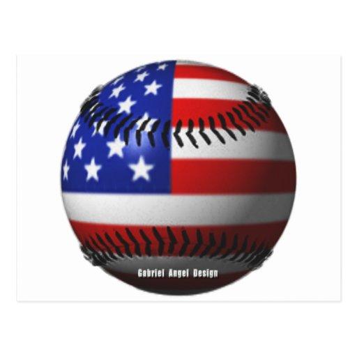 Béisbol americano tarjeta postal