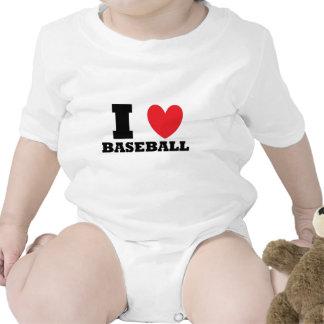 Béisbol.  Amo béisbol Traje De Bebé