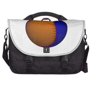 Béisbol anaranjado y azul bolsa de ordenador