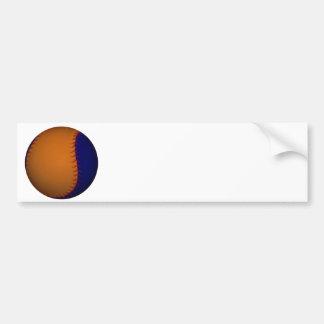 Béisbol anaranjado y azul pegatina de parachoque
