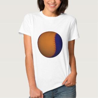 Béisbol anaranjado y azul poleras