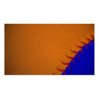 Béisbol anaranjado y azul tarjeta de visita