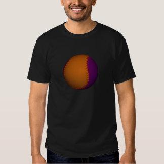 Béisbol anaranjado y púrpura playera