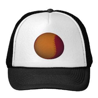 Béisbol anaranjado y rojo oscuro gorras