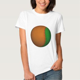 Béisbol anaranjado y verde poleras