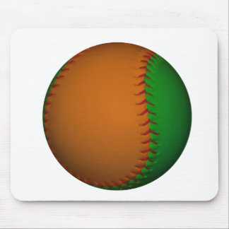 Béisbol anaranjado y verde tapete de ratones