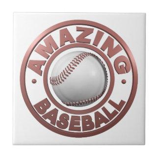 Béisbol asombroso azulejo cuadrado pequeño