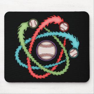 Béisbol atómico alfombrillas de raton