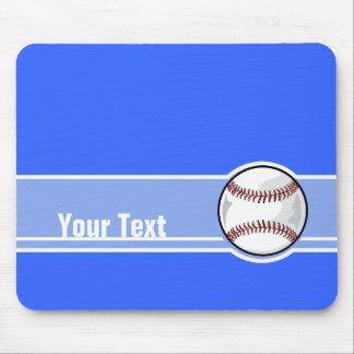 Béisbol; Azul Alfombrillas De Ratón