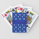 Béisbol azul conocido personalizado baraja cartas de poker