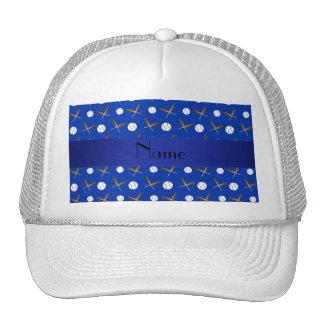 Béisbol azul conocido personalizado gorras de camionero