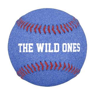 Béisbol azul del personalizado de la mirada del