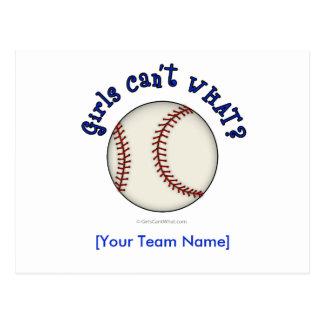 Béisbol-Azul Tarjeta Postal
