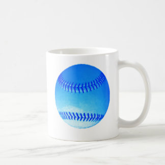 Béisbol azul taza