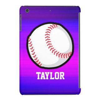 Béisbol, azul violeta del softball y magenta funda para iPad mini retina