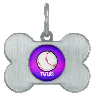 Béisbol, azul violeta del softball y magenta placa mascota
