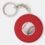 Béisbol - béisboles de la plantilla de los deporte llavero personalizado