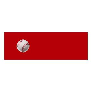 Béisbol - béisboles de la plantilla de los deporte tarjetas de visita mini