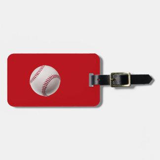 Béisbol - béisboles de la plantilla de los etiquetas maleta