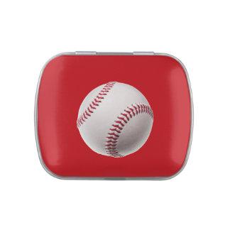 Béisbol - béisboles de la plantilla de los jarrones de caramelos