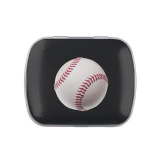 Béisbol - béisboles de la plantilla de los frascos de caramelos